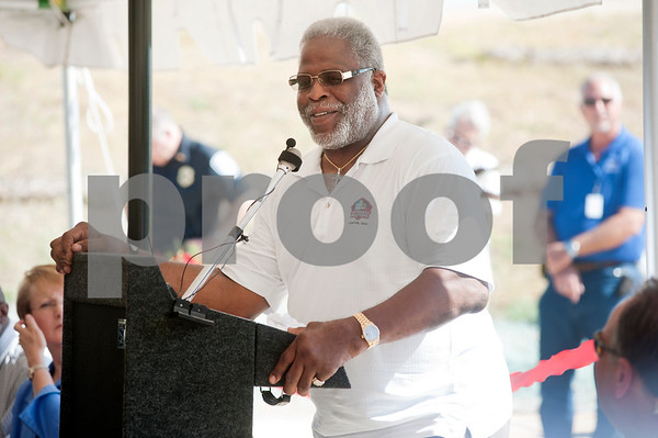 copyright 2012 Sarah A. Miller/Tyler Morning Telegraph  Earl Campbell speaks at the dedication and ribbon cutting of the Earl Campbell Parkway  Aug. 30 in Tyler, Texas. Campbell, nicked named The Tyler Rose, grew up in Tyler and went on to the University of Texas to play football. He was awarded the Heisman Trophy in 1977. The new four-lane Earl Campbell Parkway connects Texas Highway 155 to West Loop 323 and features two bike lanes, drought tolerant landscaping, raised landscaped medians and sidewalks. The completed project consists of about 86,000 square yards of pavement, enough to cover about 13 football fields.