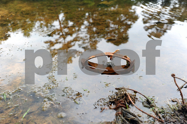 copyright 2012 Sarah A. Miller/Tyler Morning Telegraph  One of Paul Jones's traps is set in a pond in south Tyler.