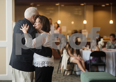 W.H. and Judy Harbour of Tyler dance at 50th wedding anniversary vow renewal ceremony at Green Acres Baptist Church on Saturday Aug. 4, 2018.   (Sarah A. Miller/Tyler Morning Telegraph)