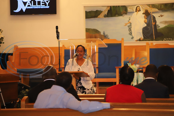 Rhonda Brinkley founder of ETHSBN speaks at Jones Valley Church during the 100 Faces of Freedom event. Sarah perez/Freelance