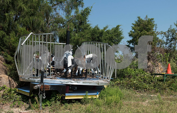 This carousel was destroyed by the tornado that hit Yesterland Farm in Canton this past April. The family entertainment center has spent the summer repairing and re-arranging the facility.   (Sarah A. Miller/Tyler Morning Telegraph)