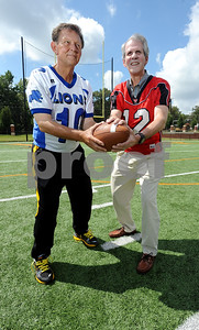 copyright 2012 Sarah A. Miller/Tyler Morning Telegraph  Danny Palmer, age 63, and Hal Cameron Jr., 64, were rival quarterbacks in 1965. Palmer, who was the quarterback for John Tyler High School, is currently the head coach of the Tyler Junior College football team. Cameron, the quarterback for Robert E. Lee, is now a civil attorney in Tyler.