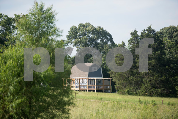 The Bullock's home is pictured at Red Moon Farm in Van June 21, 2017. Red Moon Farm is an organic farm and CSA (community-supported agriculture). In the CSA system customers become members who buy a share of the harvest from the farm and the farm commits to growing the produce for each member.   (Sarah A. Miller/Tyler Morning Telegraph)