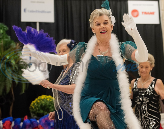Mindy Lyons, 71, of Tyler, performs with the Flappers dance group from the Tyler Senior Center for Senior Day at the East Texas State Fair on Friday Sept. 20, 2019.   (Sarah A. Miller/Tyler Morning Telegraph)