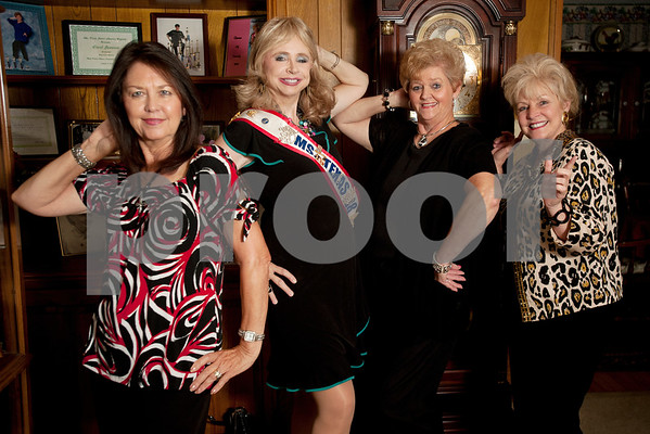 copyright 2012 Sarah A. Miller/Tyler Morning Telegraph  Marilyn Rich-Johnston, 68, of Gladewater, Dr. Syntha West, 73, of Tyler, Carol Swanson, 65, of Tyler and JuneAnn Brown, 65, of Tyler, are friends who share the passion of competing in pageants.
