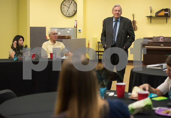 Don Kent tells his story about being diagnosed with Lewy body dementia during a lunch and learn event held by the Alzheimer's Alliance of Smith County in Tyler Thursday June 29, 2017.   (Sarah A. Miller/Tyler Morning Telegraph)