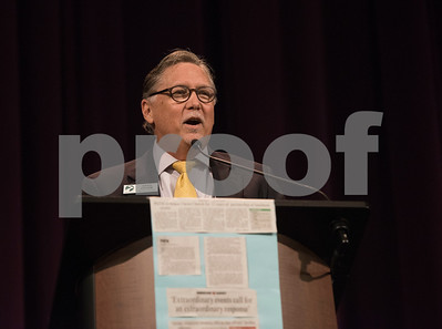 Greg Grubb, executive director of PATH, speaks at the PATH Week Luncheon held at Green Acres Thursday Sept. 7, 2017. Christ Church Episcopal was honored for 32 years of service with PATH and given the Gertrude Windsor Award.  (Sarah A. Miller/Tyler Morning Telegraph)