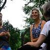 KRISTOPHER RADDER — BRATTLEBORO REFORMER<br /> Cynthia Payne-Meyer talks with Irene Canaris and Terri Ziter  while they walk through her garden on Wednesday, Aug. 7, 2018.