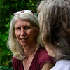 KRISTOPHER RADDER — BRATTLEBORO REFORMER<br /> Cor Trowbridge works on a schedule with Cynthia Payne-Meyer on Wednesday, Aug. 7, 2018, as they coordinate people that are going to be visiting Payne-Mayer's residence.