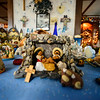 KRISTOPHER RADDER — BRATTLEBORO REFORMER<br /> Shirley Squires, of Guilford, Vt., prepares to open her home to have people view her Nativity Scene collections.