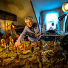 KRISTOPHER RADDER — BRATTLEBORO REFORMER<br /> Shirley Squires, of Guilford, Vt., adds a figure to her more than 200-piece Nativity Scene collection.