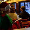 KRISTOPHER RADDER — BRATTLEBORO REFORMER<br /> Skylar French, dressed as an elf, tells holiday jokes to passengers on the Green Mountain Flyer train as it traveled from Bellows Falls to the North Pole (Chester, Vt., train station) on Sunday, Nov. 24, 2019.