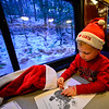 KRISTOPHER RADDER — BRATTLEBORO REFORMER<br /> Ryan Leonard, 4, Hinsdale, N.H., colors as the Green Mountain Flyer train travels from Bellows Falls to the North Pole (Chester, Vt., train station) on Sunday, Nov. 24, 2019.