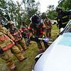 "KRISTOPHER RADDER - BRATTLEBORO REFORMER<br /> Brattleboro Firefighters train on the new ""Jaws of Life"" equipment on Tuesday, Sept. 19, 2017."