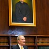 BEN GARVER — THE BERKSHIRE EAGLE<br /> Justice Francis X. Spina speaks during the ceremony of the unveiling of his portrait in Berkshire Superior Court, Friday, November 8, 2019.