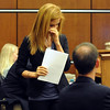 """Abby Toll wipes a tear after her  statement at her sentencing hearing.<br /> Abby Toll  was  taken into custody after sentencing. She will spend 30 days in jail for and 3 years probation for  felony animal cruelty. For more photos, go to  <a href=""""http://www.dailycamera.com"""">http://www.dailycamera.com</a>.<br /> Cliff Grassmick / July 9, 2010"""