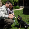 """Shannon and Amy Park play with their dog Yoshi, after the Abby Toll sentencing. Yoshi was the dog abused by Abby Toll.<br /> Abby Toll  was  taken into custody after sentencing. She will spend 30 days in jail for and 3 years probation for  felony animal cruelty. For more photos, go to  <a href=""""http://www.dailycamera.com"""">http://www.dailycamera.com</a>.<br />  Cliff Grassmick / July 9, 2010"""