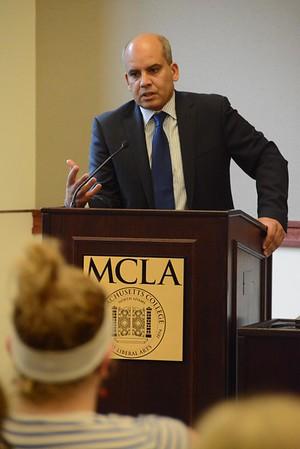 Abderrahim Foukara speaks at MCLA-101316