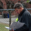 KRISTOPHER RADDER - BRATTLEBORO REFORMER<br /> Ron Stahley, Windham Southeast Supervisory Union Superintendent, looks over the Brattleboro School Emergency Information binder  during an active shooter training on Thursday, April 20, 2017.