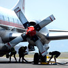 Crews work to refill fire retardant into an air tanker that is fighting the High Park fire on Monday, June 11, at the Rocky Mountain Metropolitan Airport in Broomfield.<br /> Jeremy Papasso/ Camera