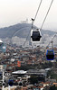 Authorities open today to visit for journalists the new cable car in Complexo do Alemao slum, Rio de Janeiro, Brazil, July 5, 2011. The cable car in the Complexo do Alemao will be inaugurated next July 7 by Brazilian president Dilma Roussef. (Austral Foto/Renzo Gostoli)