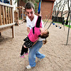 "University of Colorado student Jonathan Wezner plays with his daughter Ashlyn, 2, at the playground at Smiley Court on Wednesday, April 18, in Boulder. For more photos and video of the life of Wezner go to  <a href=""http://www.dailycamera.com"">http://www.dailycamera.com</a><br /> Jeremy Papasso/ Camera"