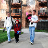 "University of Colorado student Jonathan Wezner and his wife Amber walk with their children Ayden, 7, and Ashlyn, 2, to the school bus stop on Wednesday, April 18, in Boulder. For more photos and video of the life of Wezner go to  <a href=""http://www.dailycamera.com"">http://www.dailycamera.com</a><br /> Jeremy Papasso/ Camera"