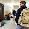"University of Colorado student Jonathan Wezner walks down the hall to his micro-economics class at the University of Colorado campus on Wednesday, April 18, in Boulder. For more photos and video of the life of Wezner go to  <a href=""http://www.dailycamera.com"">http://www.dailycamera.com</a><br /> Jeremy Papasso/ Camera"