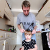 "University of Colorado student and Army veteran Jonathan Wezner puts a matching poka-dot bow on his daughter Ashlyn's head while getting ready for the day on Wednesday, April 18, in Boulder. For more photos and video of the life of Wezner go to  <a href=""http://www.dailycamera.com"">http://www.dailycamera.com</a><br /> Jeremy Papasso/ Camera"