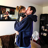"University of Colorado student and Army veteran Jonathan Wezner kisses his daughter Ashlyn, 2, before leaving for class on Wednesday, April 18, in Boulder. For more photos and video of the life of Wezner go to  <a href=""http://www.dailycamera.com"">http://www.dailycamera.com</a><br /> Jeremy Papasso/ Camera"