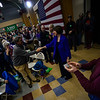 KRISTOPHER RADDER — BRATTLEBORO REFORMER<br /> Democratic presidential candidate Sen. Amy Klobuchar, D-Minn., shakes the hand of her supporters during a town hall at Keene High School, in Keene, N.H.,  on Tuesday, Dec. 31, 2019.