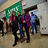 KRISTOPHER RADDER — BRATTLEBORO REFORMER<br /> People enter the cafeteria at Keene High School, in Keene, N.H. before the start of a town hall with Democratic presidential candidate Sen. Amy Klobuchar, D-Minn., on Tuesday, Dec. 31, 2019.