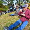KRISTOPHER RADDER — BRATTLEBORO REFORMER<br /> Frank Smith, from Webster, Mass., enjoys a piece of apple pie during the 50th annual Dummerston Apple Pie Festival on Sunday, Oct. 13, 2019.