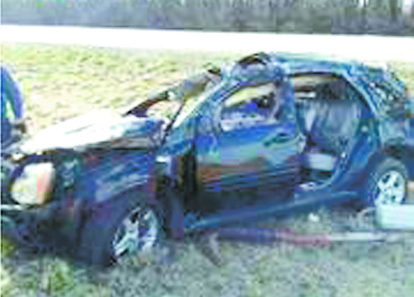 A Zionsville man was injured in this single-car roll-over crash on Interstate 70 Thursday morning.