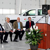BIG MOMENT: Several influential persons attended Lebanon Utilities Electric Operations Facility Building dedication Wednesday afternoon. Pictured (from left) Indiana Municipal Power Association Senior Vice President of Planning Doug Buresh, Indiana Senator Phil Boots, Indiana Representative Tim Brown, Lebanon Mayor Matt Gentry, and Lebanon Utilities General Manager Mike Whitman.