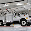 PRISTINE FACILITY: This Lebanon Utilities truck sits in one of the 14 truck bays. There is also an inventory bay door and a wash bay door, giving the facility 16 bay doors in total.