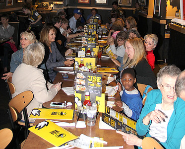 FAMILY AFFAIR: Tyler Everett's family and friends gathered to watch his big win on The Price is Right at a viewing party at Lebanon's Buffalo Wild Wings.