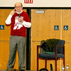 "HOLOCAUST SURVIVOR SPEAKS AT WEBO<br /> Elizabeth Pearl | The Lebanon Reporter<br /> LIFE STORY: Cincinnati resident and Holocaust survivor Conrad Weiner spoke to Western Boone Jr.-Sr. High School students Friday morning about his time in a concentration camp, his life in Communist Romania and his eventual immigration to the United States. Weiner was 3 years old when his family was transported by cattle car to the Budi labor camp. He lived there for about four years, until the camp was liberated by the Soviet Army in 1944. Of the 1,500 people who traveled with Weiner's family on the cattle car, only 300 survived. <br /> Weiner immigrated to the United States in 1960 and joined the U.S. Army, which sent him to Germany because he spoke five languages. Weiner said that he was not angry at the Germans because he understood that being German did not make them Nazis. <br /> ""If you remember nothing else of what I've said to you,"" Weiner told the crowd of Webo teachers and students, ""remember to stand up when you see injustice."""