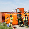 Tricky turn<br /> Rod Rose The Lebanon Reporter<br /> TOPPLED TRUCK: Than Sum Hrang, 38, Glen Ellyn, Illinois, was not hurt about 11:30 a.m. Wednesday when this semi-tractor trailer he was driving overturned at state Road 267 and Indianapolis Road in Whitestown. Police said Hrang was going too fast to make the left turn onto Indianapolis Road. The cargo container was loaded with auto parts, police said. Whitestown police and fire departments responded.