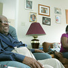 Globe/Roger Nomer<br /> Russell England and his niece Kim Weathers talk about England's desire to see President Obama speak at Joplin High's graduation this month.