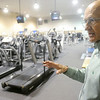 Globe/Roger Nomer<br /> Pittsburg YMCA Executive Director Jack Bache talks about the facility's weight room.