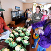 Globe/T. Rob Brown<br /> Lynette Rowe, right, of Joplin, points to her favored cauliflower from Tom Lewis, of Stockton and Broken Wire Ranch, during the Webb City Farmers Market Friday morning, April 20, 2012. Rowe's daughters Amanda Rowe, of Neosho, and Mya England, 1, of Joplin, and her grandson Landon Meyer, 2, of Neosho, look on.