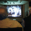 "Globe/T. Rob Brown<br /> Missouri Southern Film Society members Conrad Gubera, left, and Larry Meacham watch ""Border Street,"" or ""Ulica Graniczna,"" a 122-minute film from 1948 Poland, in Cornell Auditorium in MSSU's Plaster Hall, Tuesday, April 10, 2012."