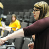 "Globe/T. Rob Brown<br /> PSU graduate student Kristy Magee directs her actors during a practice for ""The Dead Man Walking"" play by Tim Robbins, Thursday night, April 12, 2012, in PSU's Grubb Hall."