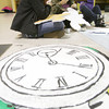 Globe/Roger Nomer<br /> (from left) Joplin High juniors Sarah Flowers, Jordan McGrane and Gabrielle Clark work on prom decorations on Friday afternoon.