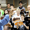 "Globe/T. Rob Brown<br /> Director David Sharlow leads a practice for Handel's ""Messiah"" Wednesday night, April 11, 2012, in MSSU's choir room."