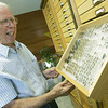 Globe/Roger Nomer<br /> Raye Letsinger talks about some of the beetles in his collection.