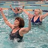 BEN GARVER – THE BERKSHIRE EAGLE<br /> At 90, Theresa Tracy teaches an Aquafit class at the YMCA in Pittsfield.  The classes are open to anyone Monday, Wednesday and Friday 11an-noon.  Theresa's birthday was Tuesday and she has been teaching fitness for 22 years at the YMCA after a career as a nurse.