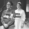 March 19, 1984 | The Goshen News<br /> It took about6 90 minutes and 257 words to decide who was the best speller in the county Tuesday night. There were 46 elementary and junior high school students from 13 school systems in the contest at Goshen Hgih School auditorium. Thomas Stickel, 10, only a fifth grader from Jimtown Elementary won in his first trip to the spelling bee. Maggie Beachy, 14, from Fairfield Junior Hgih was Runner-up. Mark Anders, 11, from Jefferson Elementary came in Third.