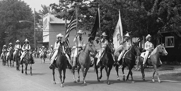 THE GOSHEN NEWS | JUNE 11, 1979<br /> Members of the Elkhart County 4-H Saddle Club formed the unit which won the parade champion trophy at the New Paris Sunnyside Park Days parade Saturday afternoon. A total of 60 units entered the annual event.